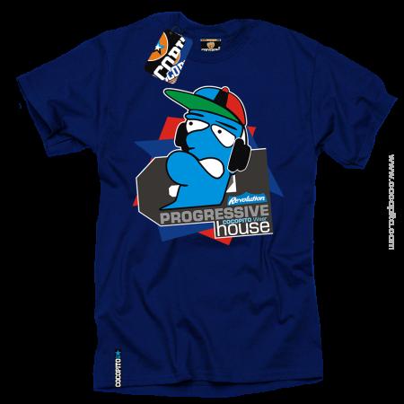 MC DJ Progressive House COCOPITO  - koszulka męska blue tshirt niebieska koszulka