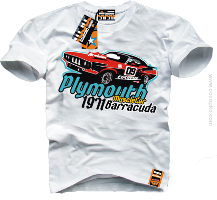 Plymouth Barracuda Muscle Car - koszulka męska Man Tshirt