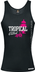 Tropical Chillout Style - Top damski czarny