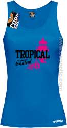 Tropical Chillout Style - Top damski niebieski