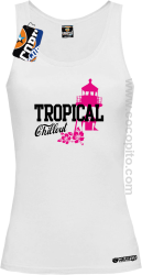 Tropical Chillout Style - Top damski biały