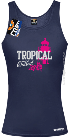 Tropical Chillout Style - Top damski granat