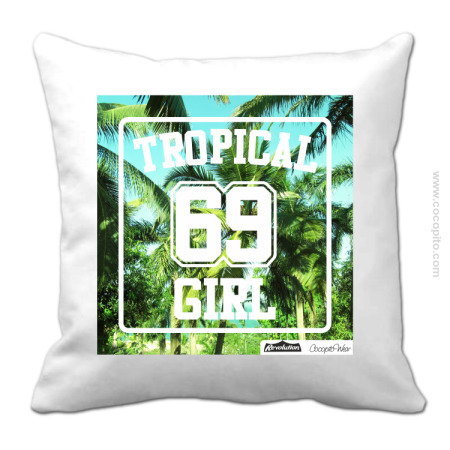 TROPICAL Full Print Girl 69 Palms -  Poduszka