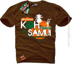 Koh Samui Thailand Cocopito Wear - Koszulki Męskie tshirt with overprint holiday