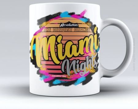 MIAMI NIGHTS The Deepest Orange - Kubek ceramiczny