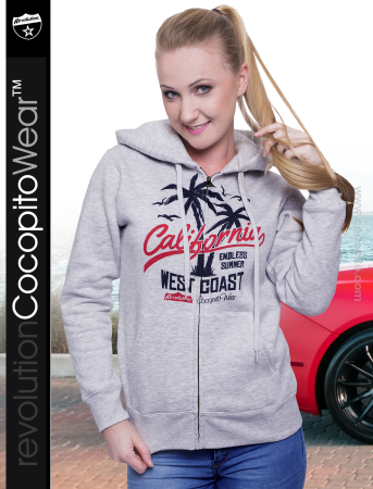 California Endless Summer West Coast - bluza damska z kapturem na zamek