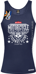 Motorcycle Crown Skull Speedway - Top damski granat