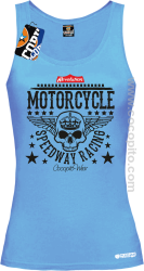 Motorcycle Crown Skull Speedway - Top damski błękit