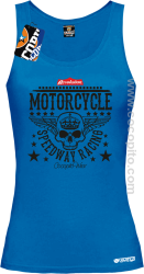 Motorcycle Crown Skull Speedway - Top damski niebieski