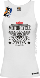 Motorcycle Crown Skull Speedway - Top damski  biały