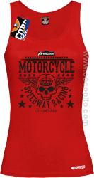 Motorcycle Crown Skull Speedway - Top damski  czerwony
