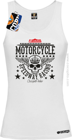 Motorcycle Crown Skull Speedway - Top damski