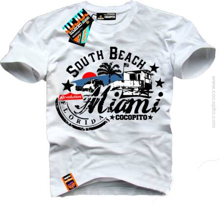 Miami South Beach Florida COCOPITO Wear - Koszulki Męskie