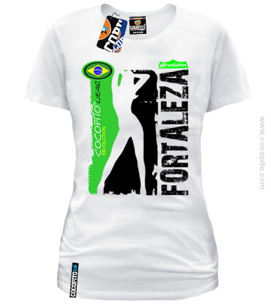 Fortaleza Brazil Cocopito Wear - koszulka damska white tshirt vacation on holiday