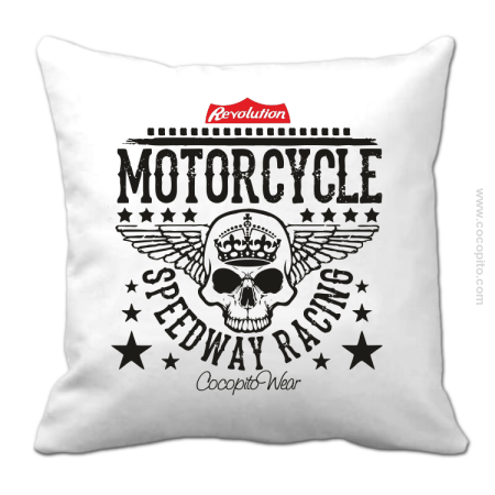Motorcycle Crown Skull Speedway - Poduszka