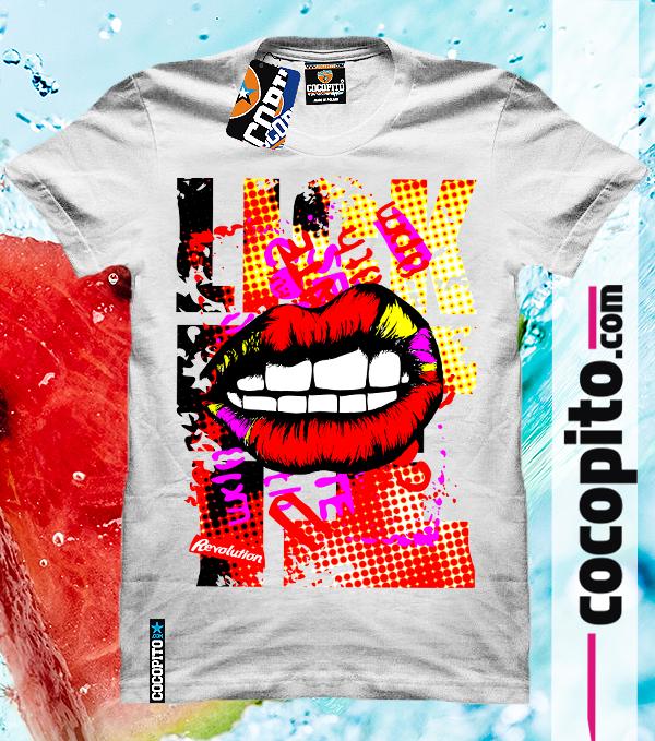 COCOPITO LIPS Crazy tshirts for everyone with overprint KOSZULKA Z NADRUKIEM NA WAKACJE WAKACYJNA