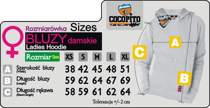 COCOPITO Wear rozmiarówka bluzy damskie - ladies hoodie