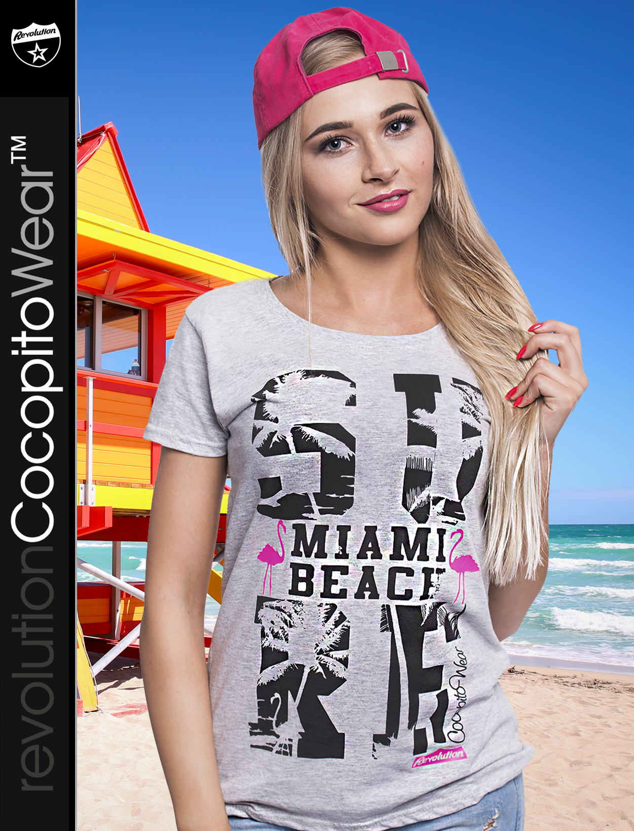 Surf Miami Beach Flamingos Black